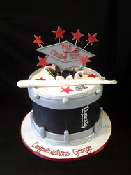 Drumline Graduation Cake
