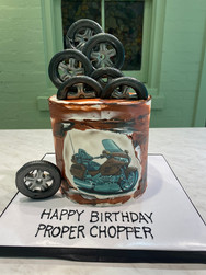 Proper Chopper Birthday Cake