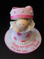 Baby Box Surprise Baby Shower Cake