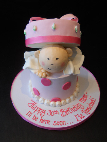 Baby Box Surprise Baby Shower Cake