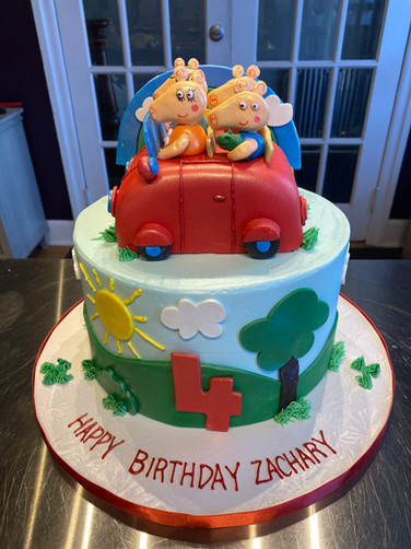Peppa Pig Roadtrip Birthday Cake