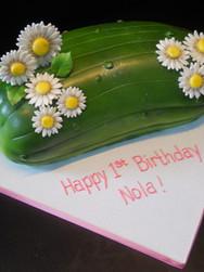 Pickle Birthday Cake