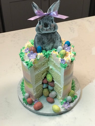 Easter Bunny Filled Holiday Cake