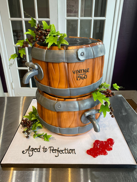 Wine Barrel Event Cake