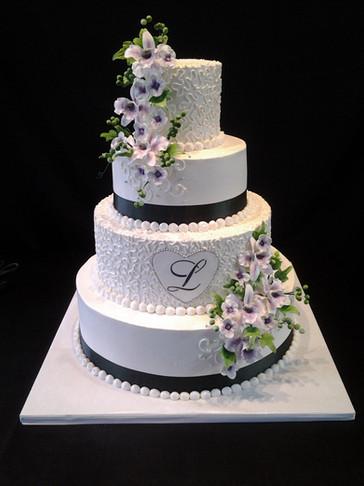 Purple Monogramed Traditional Wedding