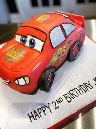 Lighting McQueen Cars Birthday Cake