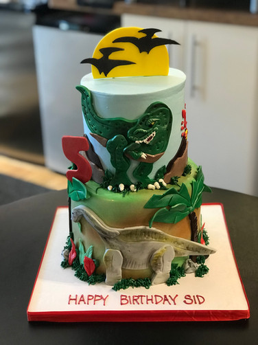 Prehistoric Dinosaur Birthday Cake