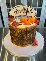 Thankful Thanksgiving Holiday Cake