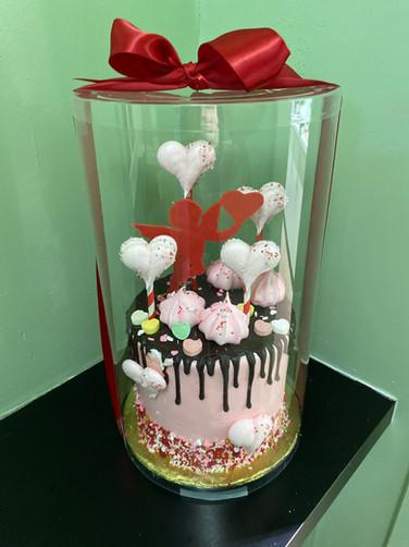 Valentine's Day Chocolate Drip Cake
