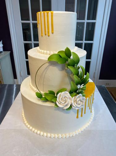 Gold Drip Modern Wedding