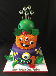 Monster-Themed Birthday Cake