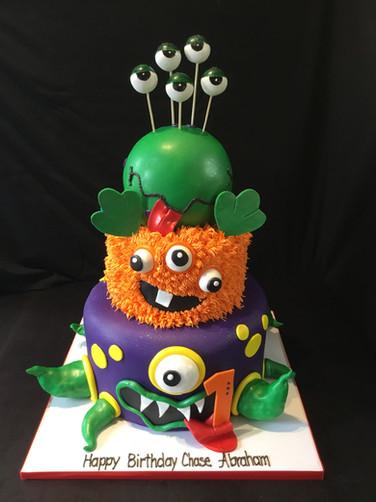 Monster-Themed Birthday Cake