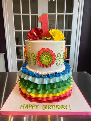Fiesta-Styled Birthday Cake