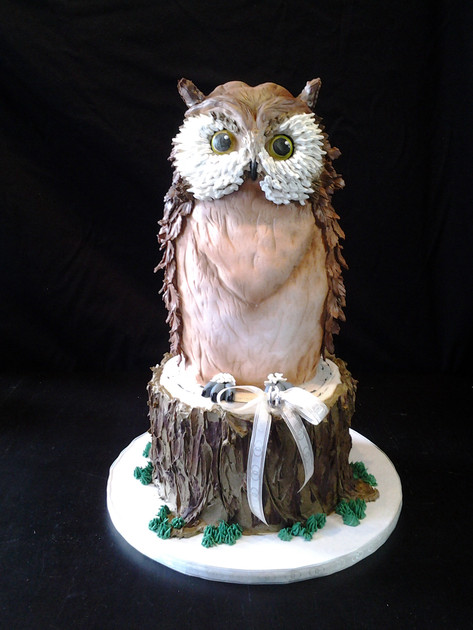 Sculpted Owl Event Cake