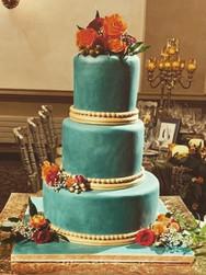 Turquoise and Burnt Orange Modern Wedding