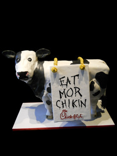 Eat Mor Chikin Chick-fil-A Cow Event Cake