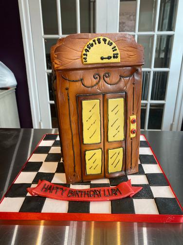 Vintage Elevator Birthday Cake