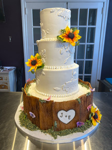 Wood and Floral Applique Rustic Wedding