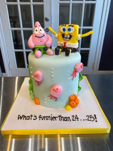 Sponge-Bob & Patrick Birthday Cake