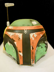 Boba Fett Mask Birthday Cake