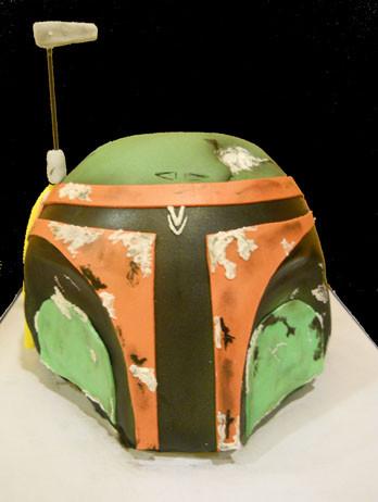 Boba Fett Mask Birthday Cake
