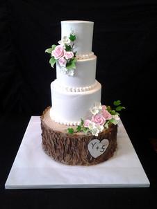 Buttercream Log Rustic Wedding