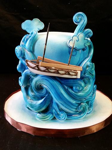 Lost at Sea Birthday Cake