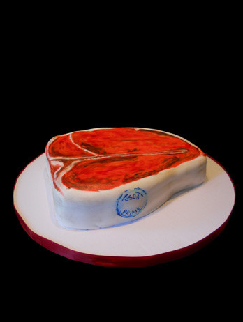 Steak Birthday Cake