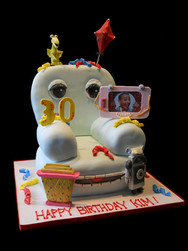 Peewee Herman Chairry Birthday Cake