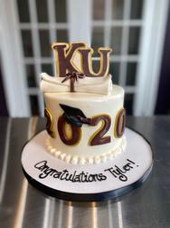 KU Diploma Scroll Graduation Cake