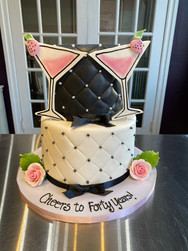 Quilted Martini Birthday Cake