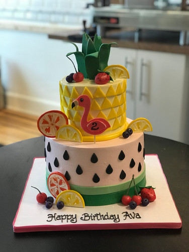 Summer Fruits Birthday Cake