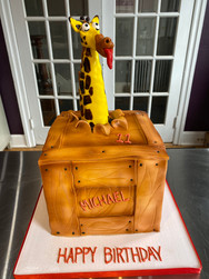 Escaped Giraffe Birthday Cake