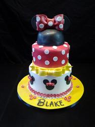 Minnie Mouse Ears Birthday Cake
