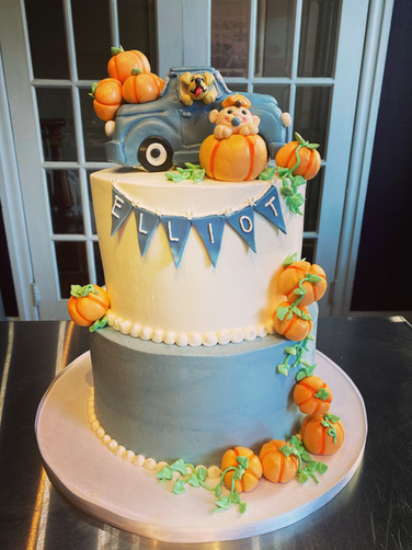 Pumpkin Patch Baby Shower Cake