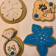 Beach Engagement Cookies