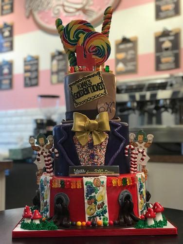 Willy Wonka Chocolate Factory Birthday Cake