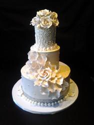 Pink Rose and Ivory Buttercream Modern Wedding