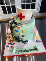 Nursing School Graduation Cake with Stethoscope