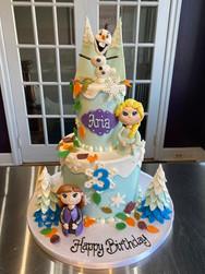 Frozen II Birthday Cake