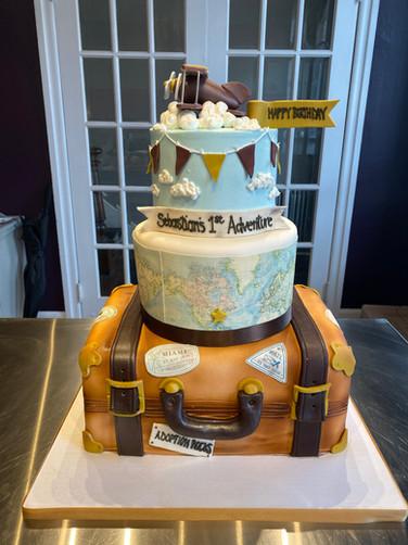 Travel Map Birthday Cake