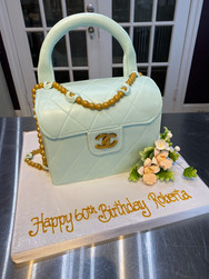 Pale Blue Chanel Purse Birthday Cake