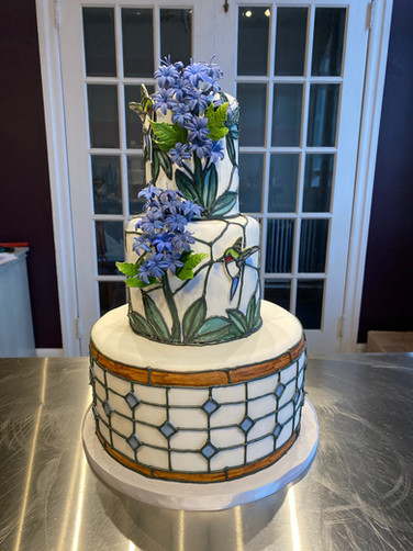 Tiffany-Inspired Stained Glass Modern Wedding