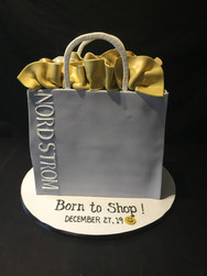 Nordstrom Shopping Bag Birthday Cake