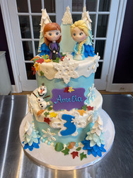 Frozen Princess Birthday Cake