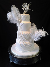 Gatsby-Inspired Feather Traditional Wedding