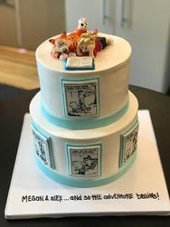 Calvin and Hobbes Comic Baby Shower Cake