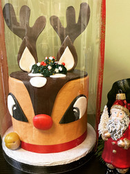 Rudolph the Red-Nosed Reindeer Holiday Cake