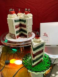 Festive Holiday Ornament Cake