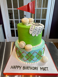 Hole-in-One Golf Birthday Cake